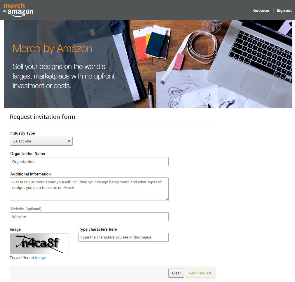 Merch by Amazon Signup Page - How To Sign Up And Get Accepted ... 42d24cb489fa