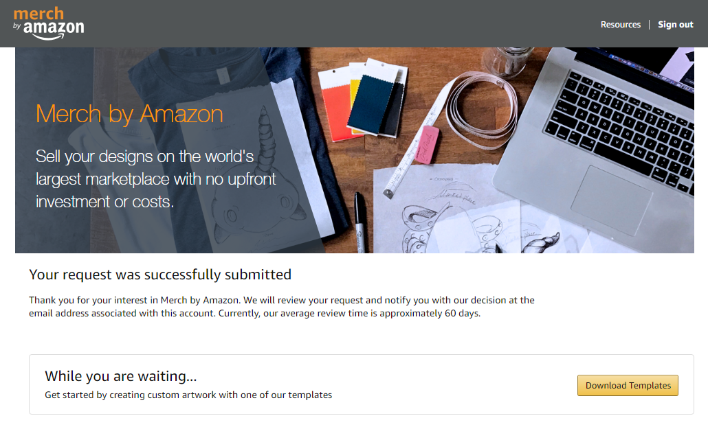Merch by Amazon Signup Page - How To Sign Up And Get Accepted