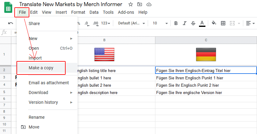 google translate merch informer